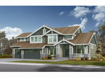Craftsman House Plan, 035H-0010