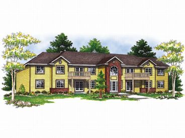Multi family house plans and apartment home plans the for Apartment building plans 6 units