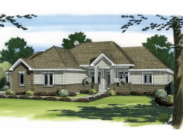 Empty Nester House Plan, 050H-0031
