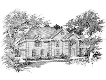 Traditional House Design, 061H-0110