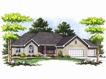 Traditional Home Plan, 020H-0069