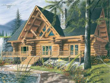 Log House Plan, 027L-0001