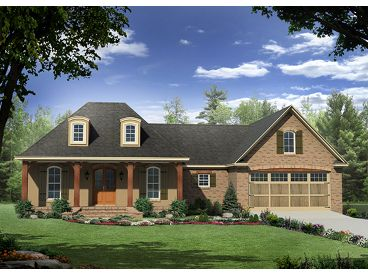 Ranch Home Plan, 001H-0141