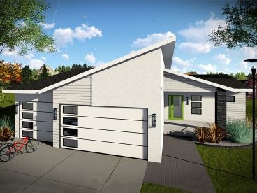 Small Modern House Plan, 020H-0460