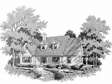 Two-Story House Plan, 004H-0082