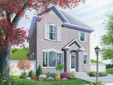 Narrow Lot House Plan, 027H-0167