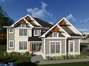 Two-Story House Plan, 020H-0416