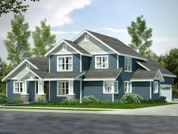 Two-Story Craftsman House Plan, 051H-0250