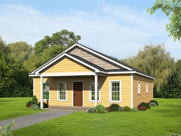 Cottage House Plan, 062H-0144