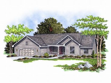 One-Story Home Plan, 020H-0026