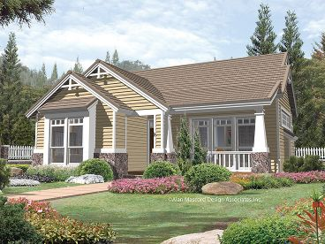 Bungalow Home Plan, 034H-0058
