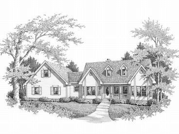 Ranch Home Plan, 004H-0043