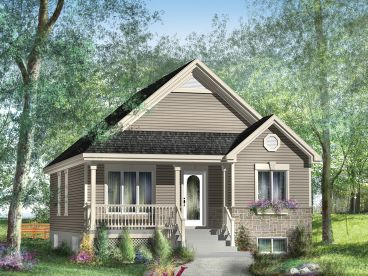 Cottage House Plan, 072H-0043