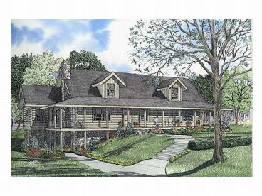 Log House Plan, 025L-0042