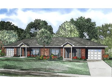Duplex Home Plan, 025H-0081