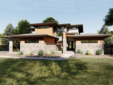 Contemporary House Plan, 050H-0187