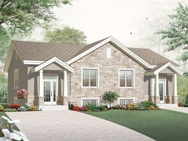 Duplex Home Plan, 027M-0031
