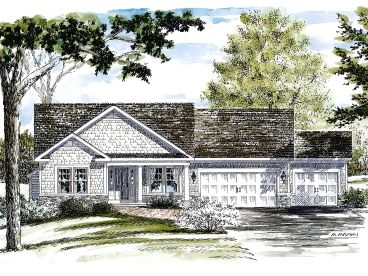 Ranch House Plan, 014H-0104