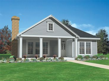 Narrow Lot Home Plan, 054H-0142