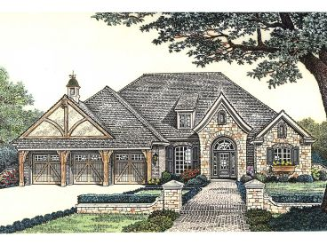 European House Plan, 002H-0092