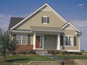 Small Ranch Home Plan, 031H-0136