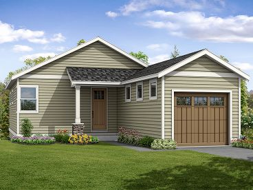 Narrow Lot House Plan, 051H-0260
