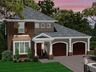Two-Story House Plan, 049H-0008