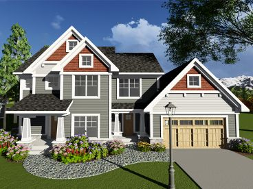Two-Story House Plan, 020H-0410