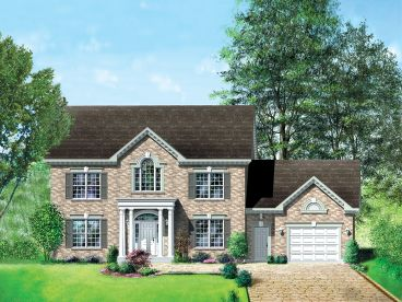 Colonial House Plan, 072H-0009