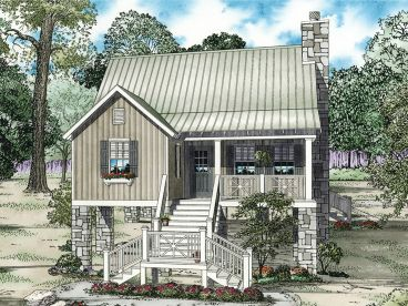 Cabin House Plan, 025H-0174