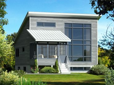 Modern Vacation House, 072H-0201