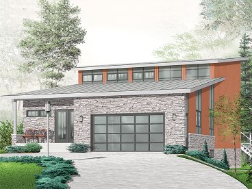 Unique Modern House Plan, 027H-0286