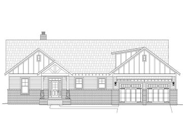 Craftsman House Plan, 062H-0042