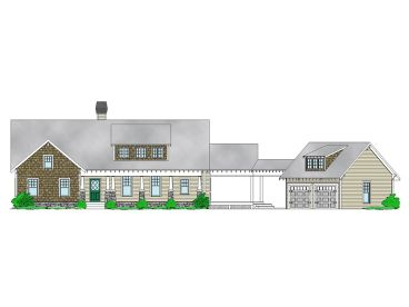 Ranch House Plan, 053H-0067