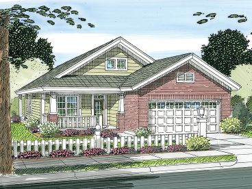 Narrow Lot House Plan, 059H-0119