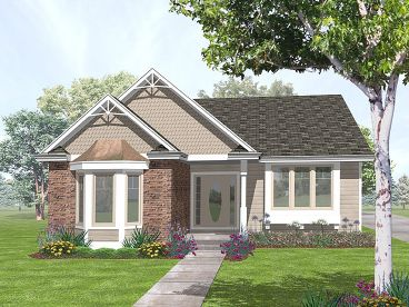 Narrow Lot Home Plan, 016H-0024