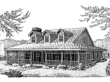 Country Farmhouse, 054H-0106