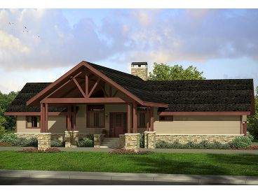 Small Craftsman House Plan, 051H-0247