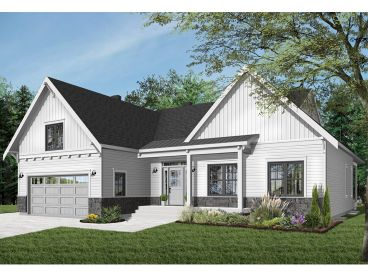 Small Empty-Nester House Plan, 027H-0510
