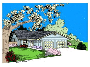 Duplex House Plan, 013M-0023