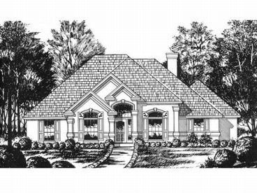 Sunbelt Home Plan, 015H-0062