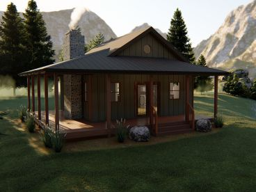 Vacation Cabin Plan, 050H-0140