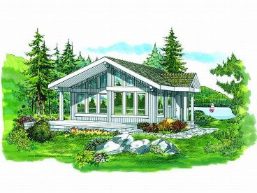 Cabin Home Plan, 032H-0050