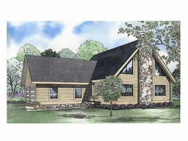 Log Home Plan, 025L-0030