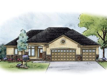 Ranch Home Design, 031H-0242