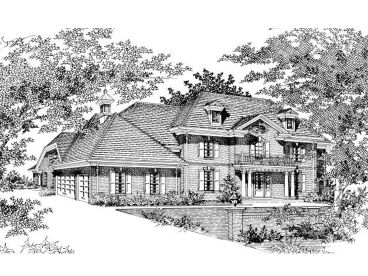 Mansion House Plan, 061H-0145