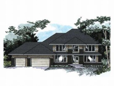 Contemporary House Plan, 023H-0052