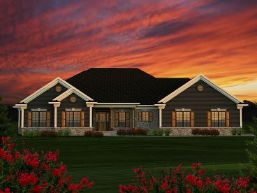 Ranch Home Design, 020H-0362