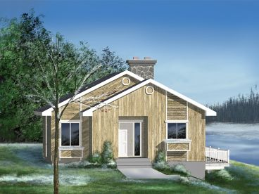 Vacation Cabin Plan, 072H-0014