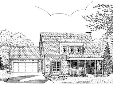 Two-Story House Plan, 054H-0100